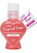 Mini Liquid Love Flavored Warming Massage Lotion Strawberry...