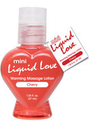 Mini Liquid Love Flavored Warming Massage Lotion Cherry...
