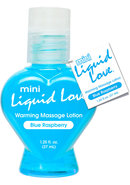 Mini Liquid Love Flavored Warming Massage Lotion Blue...