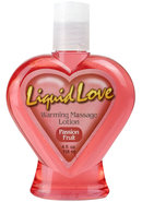 Liquid Love Warming Massage Lotion Passion Fruit 4 Ounce